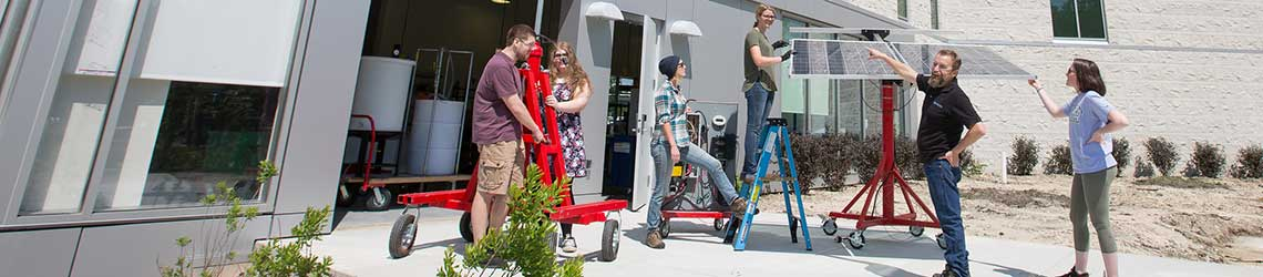 Outside sustainability lab