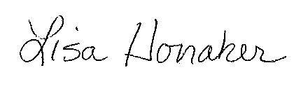 Lisa Honaker's Signature