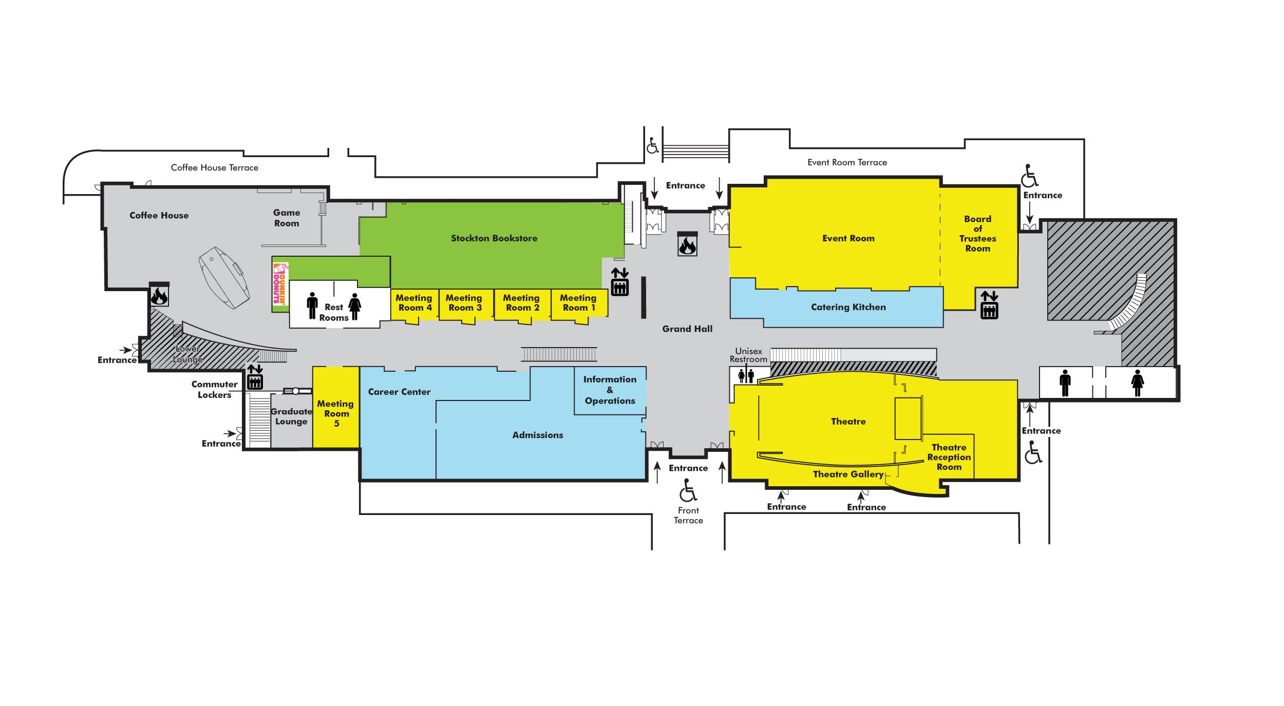 Building Directory Campus Center Stockton University