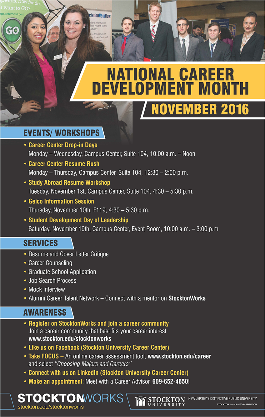 National Career Development Month Career Education
