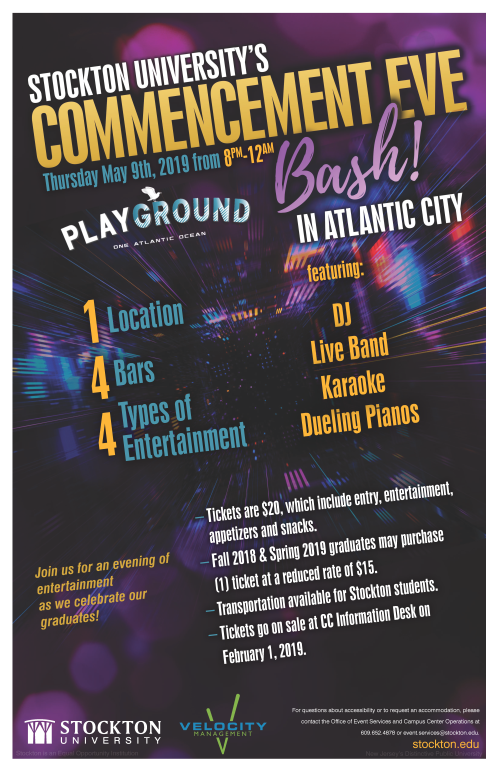 Commencement Eve Bash Flyer