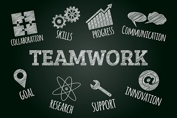 Drawing depicting teamwork principles