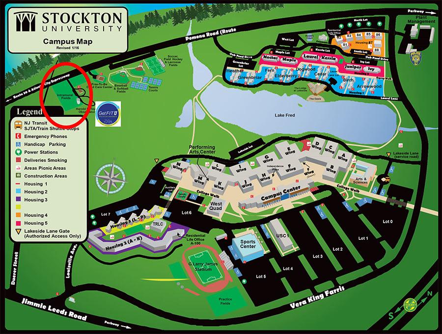 stockton college campus map Get Fit School Of Health Sciences Stockton University