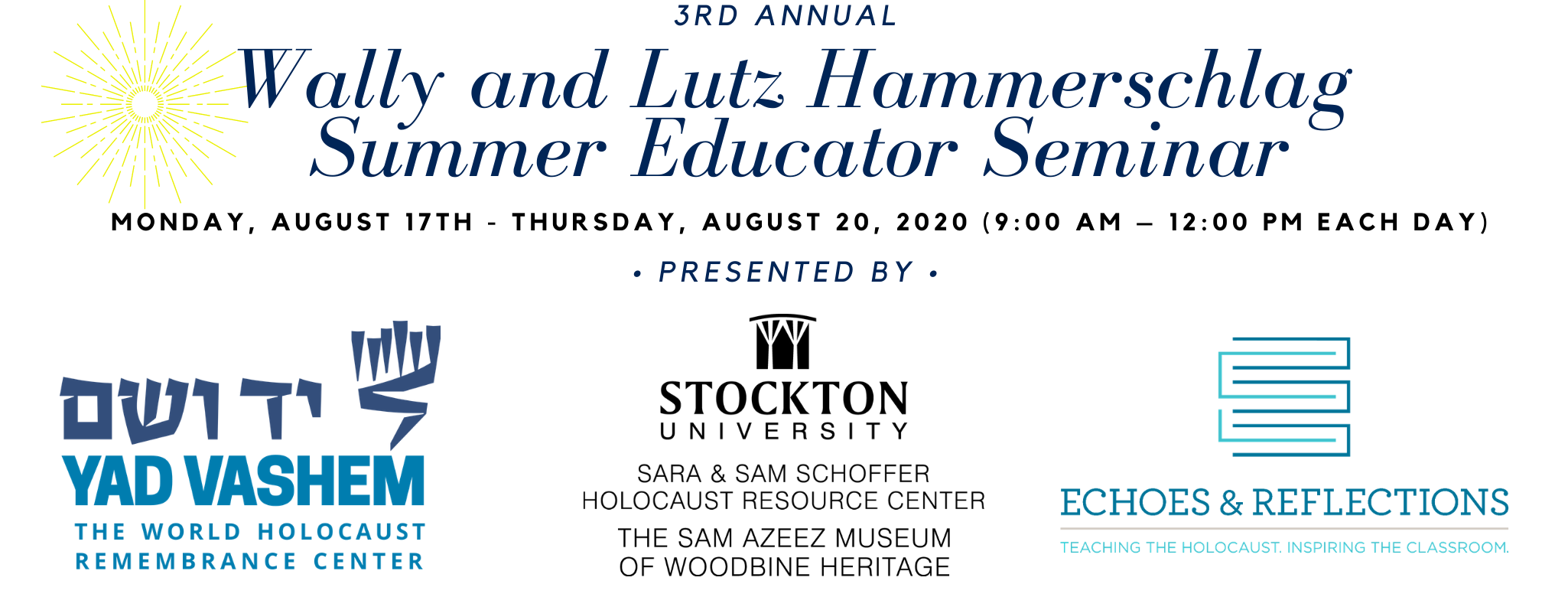 Header for the 3rd Annual Wally and Lutz Hammerschlag Summer Educator Seminar