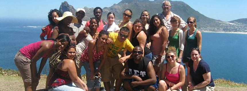 Erica Wade (front left), on a study tour to South Africa. Erica graduated in May 2012 and is currently studying Veterinary Medicine.