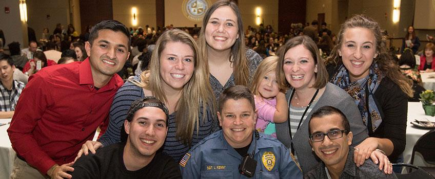 community photo with the Stockton Police