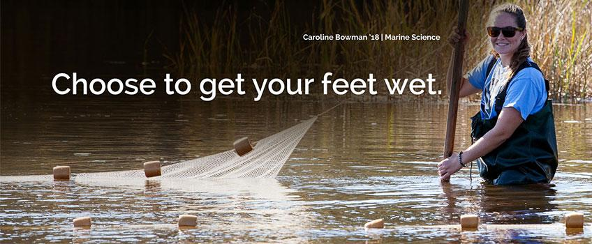 Choose to get your feet wet