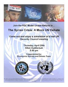 Model UN - Campus Event Flyer