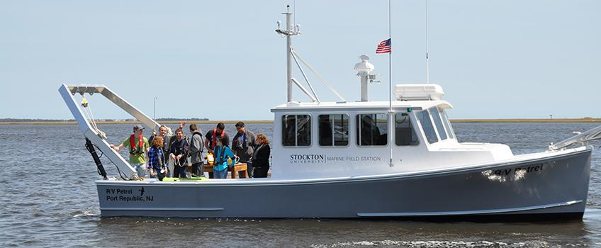 Coastal oceanography students depart for a trip aboard the R/V Petrel