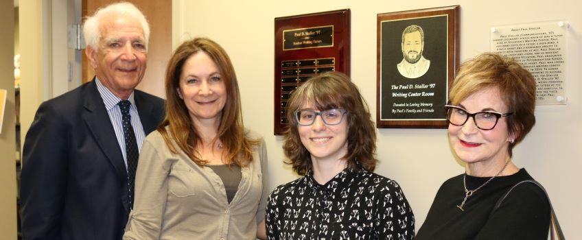 Student Shilo Previti receives Staller Award