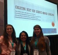 Dr. Shaw, Alex Dobbins, and Caroline Pastino