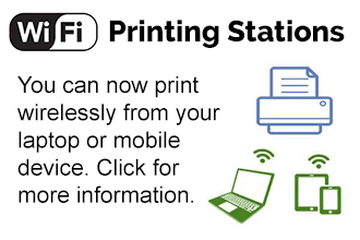 Wireless printing stations now available.