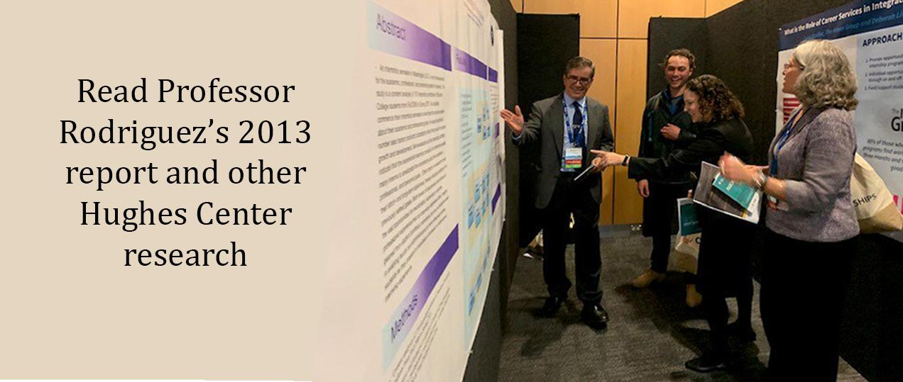 Professor Rodriguez in Australia presenting research conducted for the Hughes Center