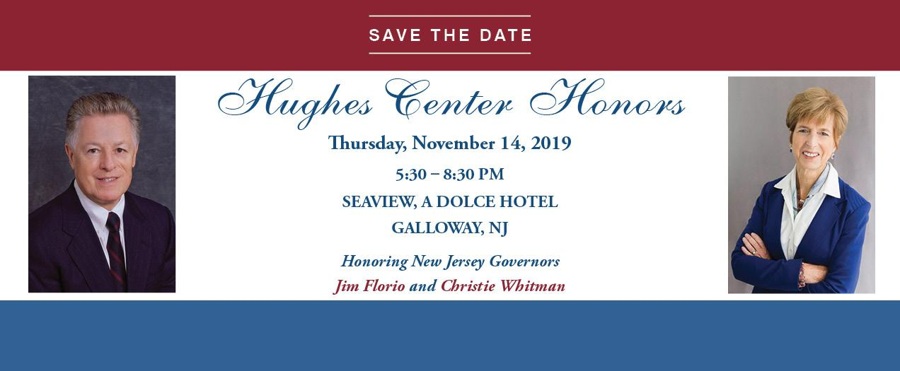 Former Governors Florio and Whitman to Receive Awards at Hughes Center Honors