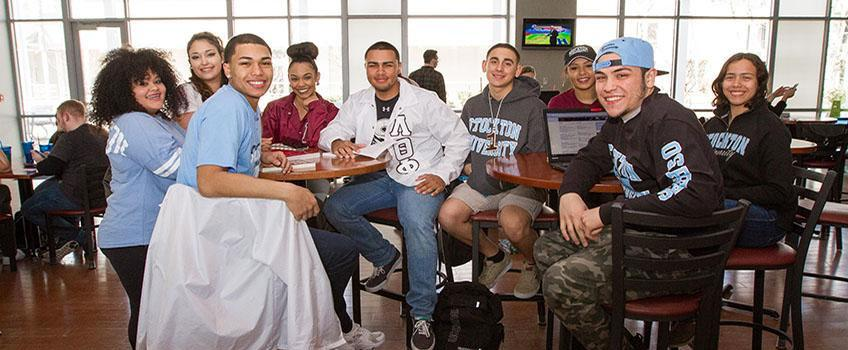 Student Group in Coffee House