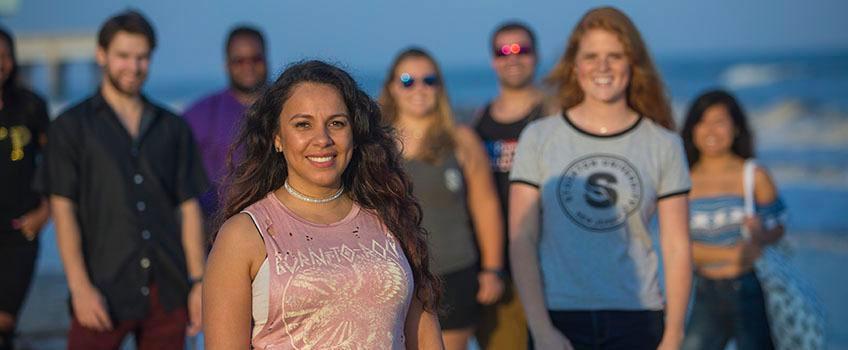 Group on AC Beach