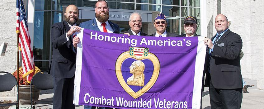 Stockton Receives Purple Heart Designation