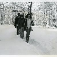 1978 trudging to class