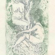 Printmaking 1, intaglio by Margaret Bennet