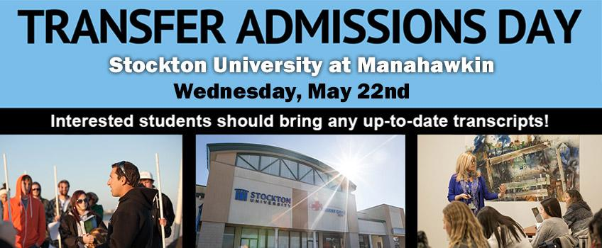 Transfer Admissions Day - Wednesday, May 22nd