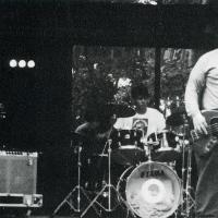 A student band playing at the 1995 WLFR Lakeside Concert.