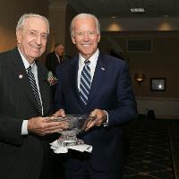 Amb. William J. Hughes with Joe Biden, Hughes Center Honors 2017