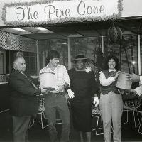 The Opening of the Pine Cone ice cream parlor, October 30, 1984.