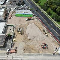 Aerial view from Providence Ave