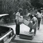 Students moving into housing