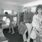 Family helping a student move in