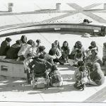 Outdoor lecture in the courtyard