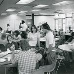 Students dining in G Wing Cafeteria