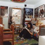 Dorm room in the 90s
