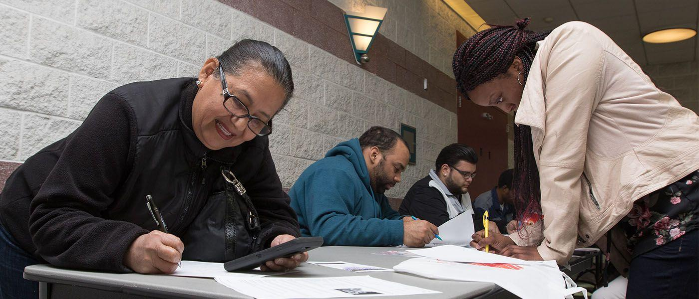 Hopeful job-seekers turn out for first community event