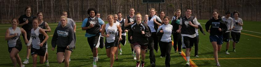 athletes running