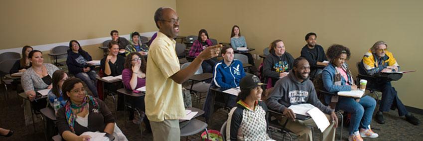 Professor lecturing class