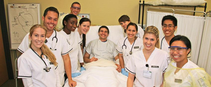 Students with patient