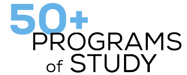 Over 50 programs of study