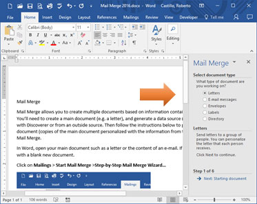 Mail Merge in Word 2016 - Information Technology Services | Stockton