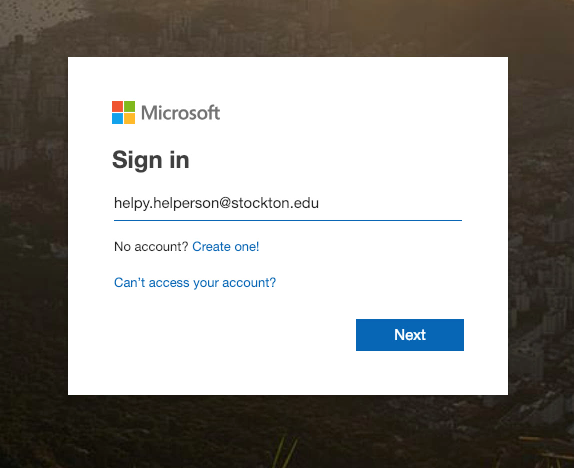 A screenshot depicting the Microsoft Office 365 login page.