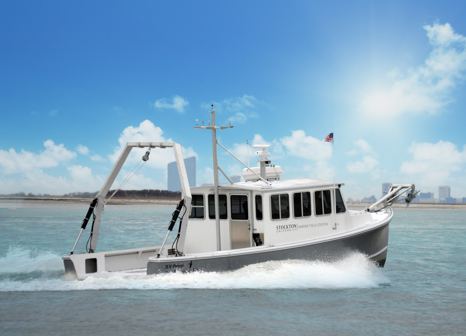 Stockton University School of Natural Sciences and Mathematics Research Vessel The Petrel