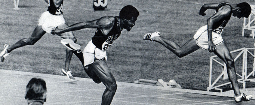 G. Larry James, right, at the 1968 Olympics
