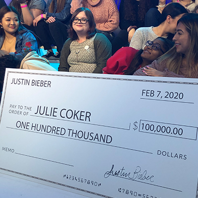 julie coker and check