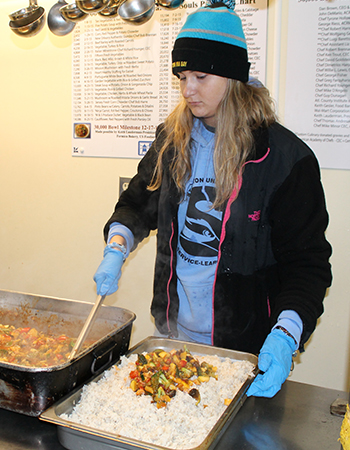 A volunteer in Atlantic City