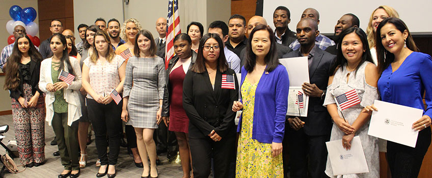 Twenty-Eight Receive U S  Citizenship at Naturalization Ceremony