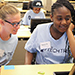 Campers experience hands-on learning from professional women in STEM
