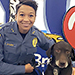 Stockton University Lieutenant Tracy Stuart and K-9 Hemi