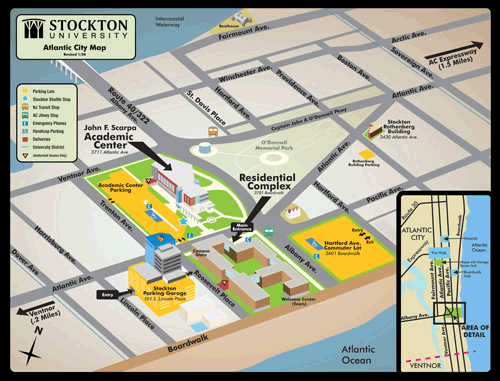 stockton college campus map Maps Directions Parking Transportation Stockton University