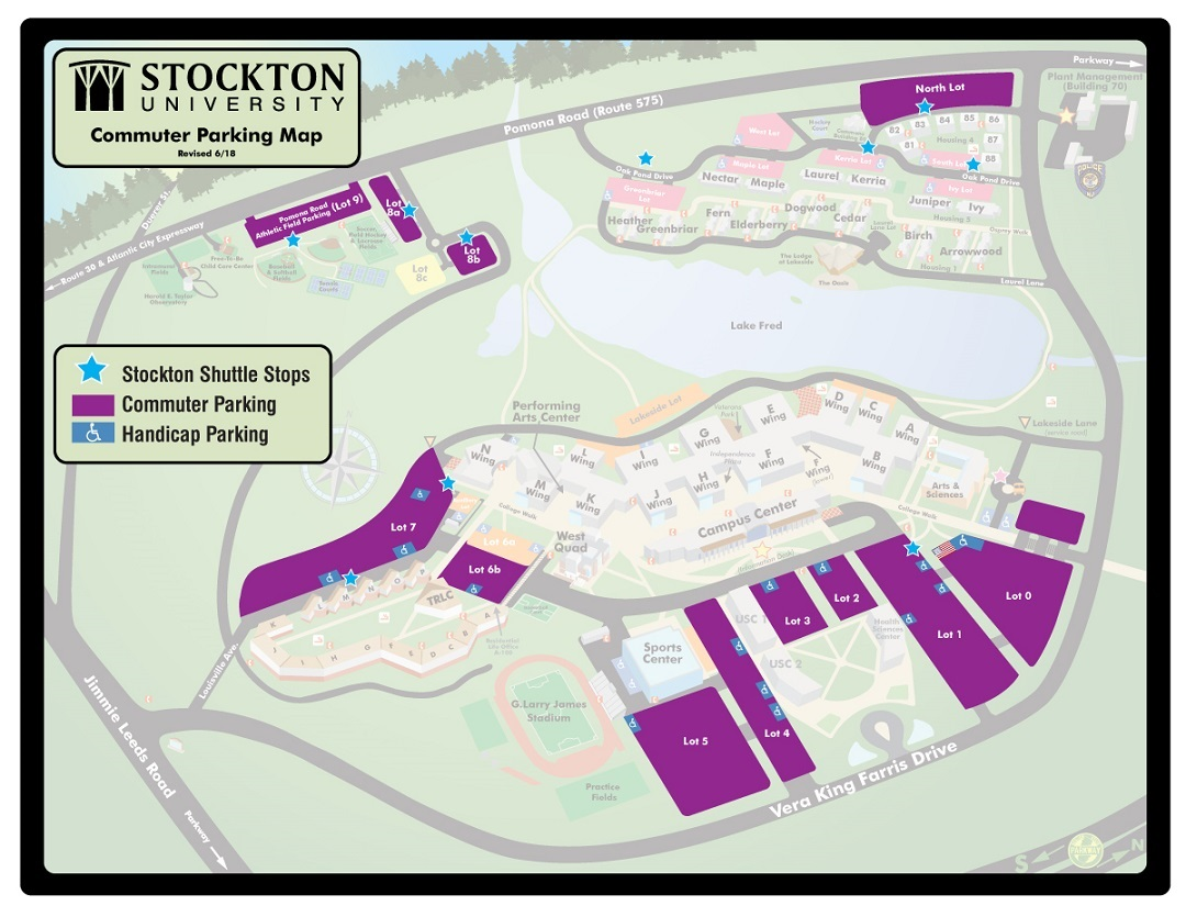 stockton college campus map Galloway Campus Parking Commuter Students Parking