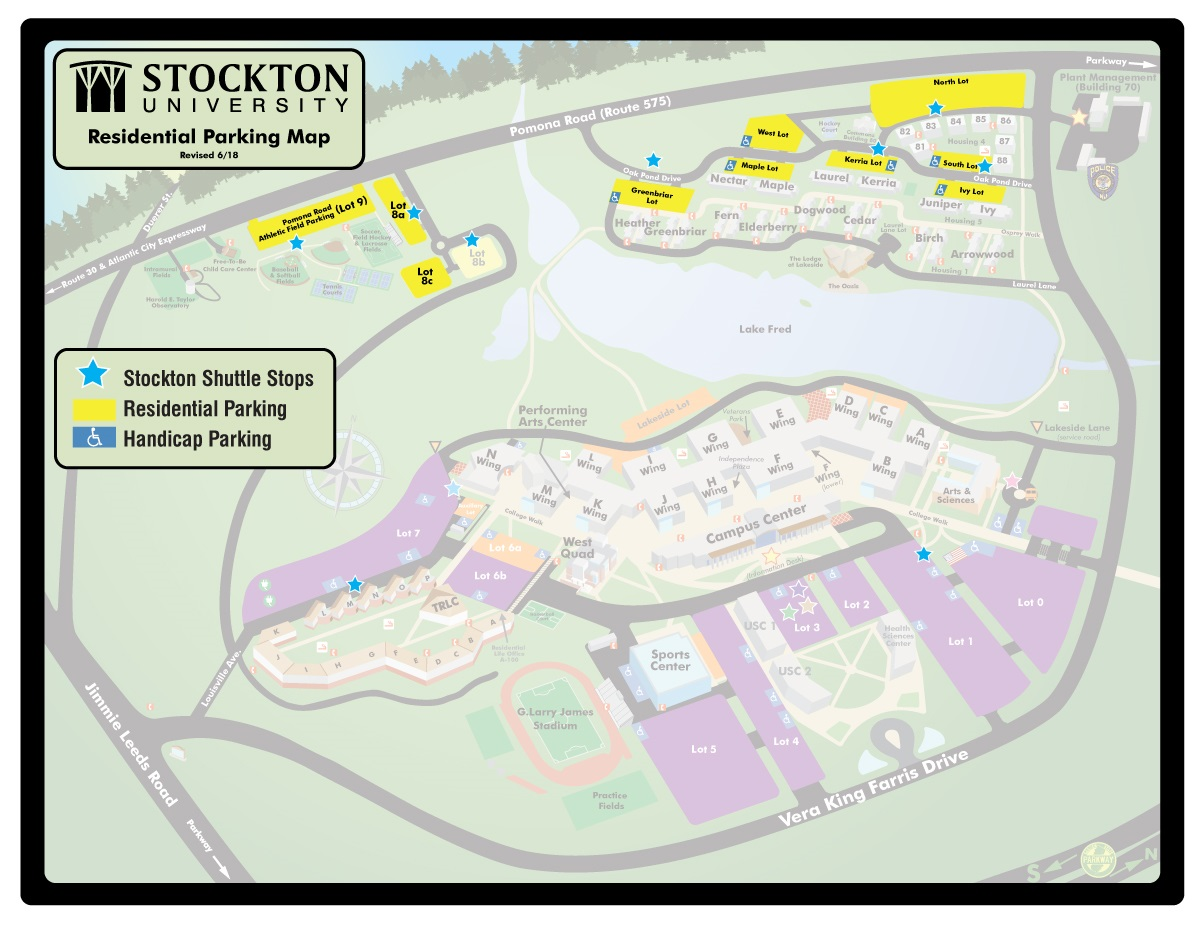Faculty / Staff Galloway Parking Map